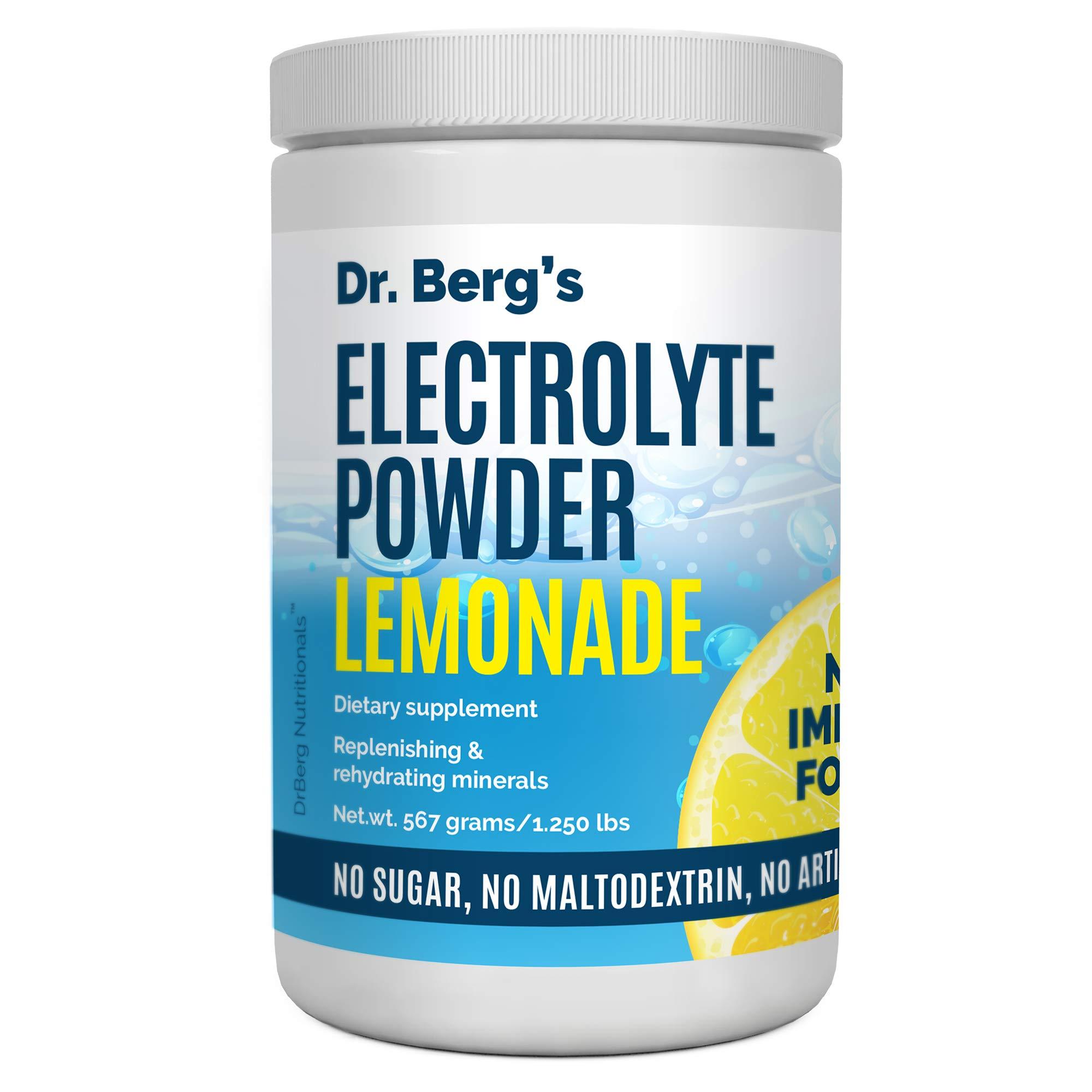 Dr. Berg's Original Electrolyte Powder Lemonade Extra - 90 Servings, High Energy, Replenish & Rejuvenate Your Cells, NO Maltodextrin or Sugar, No Ingredients from China, Amazing Lemon Flavor