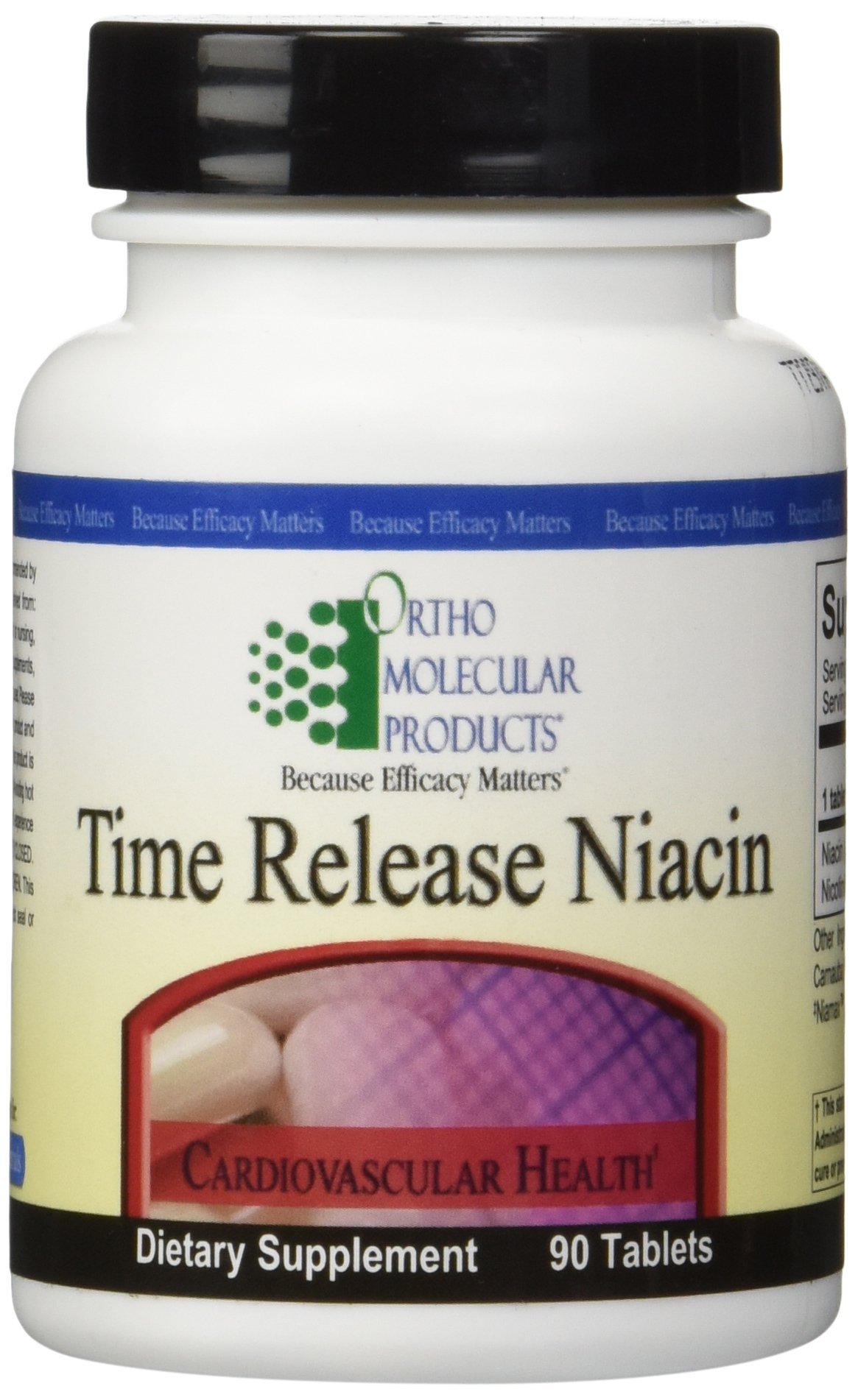 Ortho Molecular - Time Release Niacin - 90 Tablets