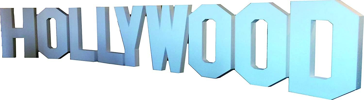 Hollywood Theme Letters - 3D Freestanding Props - Polystyrene - 400mm Tall Expanded Polystyrene Supplies
