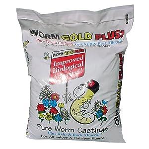 Worm Gold Plus 10010 Pure Worm Castings, 20-Quart
