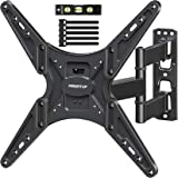 MOUNTUP TV Wall Mount, Full Motion Tilting TV Mount Bracket for Most 26-55 Inch Flat Curved TVs with Articulating Arms, Wall