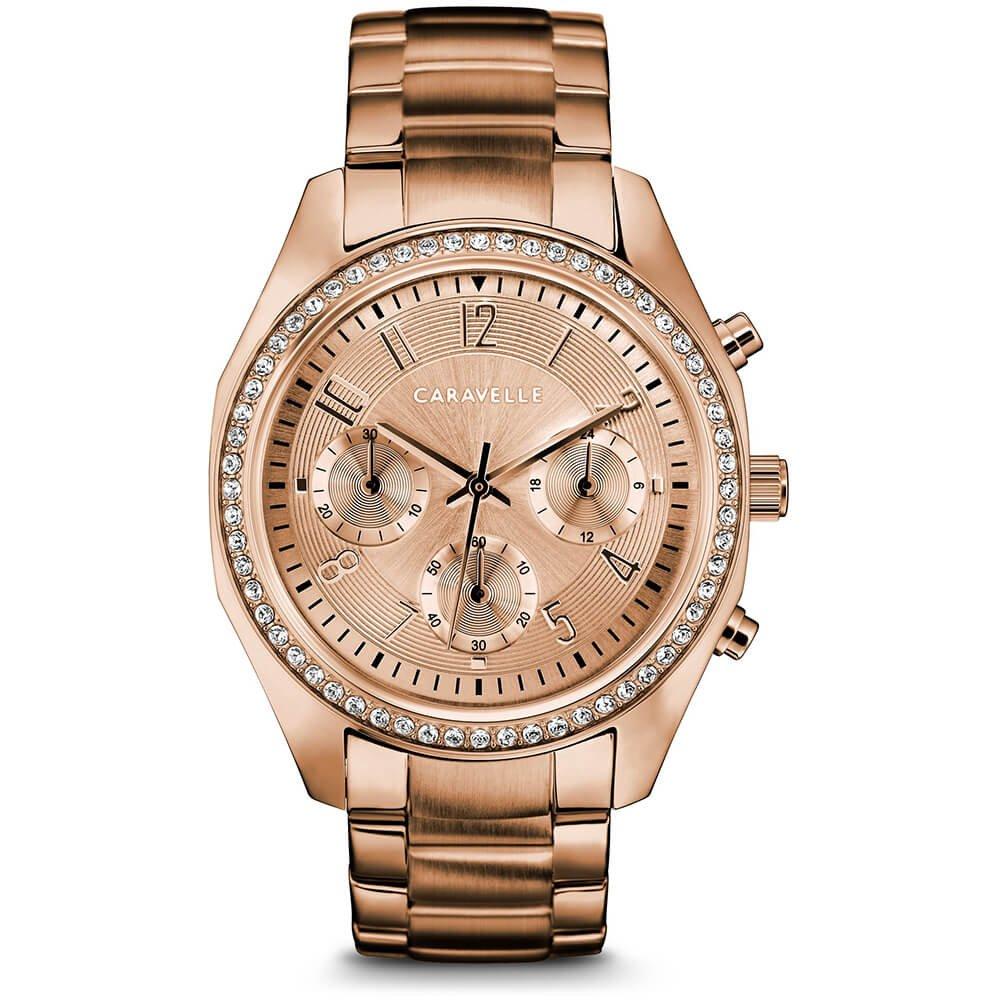 Caravelle by Bulova Women's Chronograph Goldtone Bracelet Sport Watch