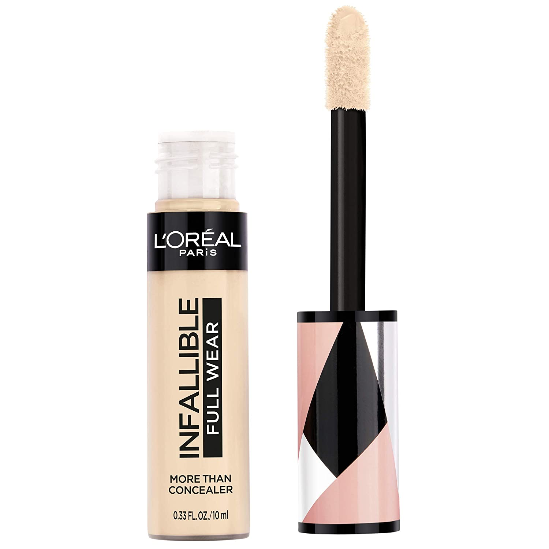 L'Oréal Paris Makeup Infallible Full Wear Concealer, Full Coverage, EXTRA LARGE Applicator, Waterproof, Multi-Use Concealer to Shape, Cover, Contour & Sculpt, Matte Finish, Eggshell, 0.33 fl. oz.