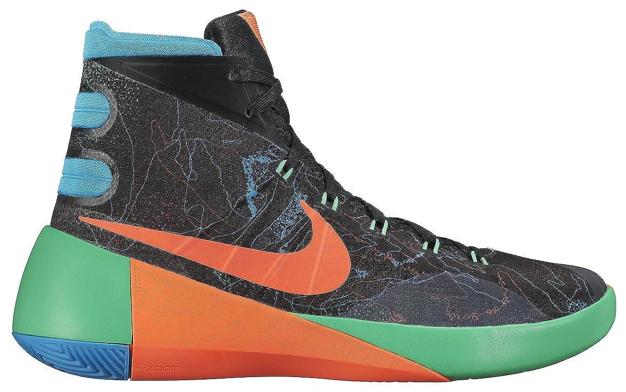 new concept 17c9d ed464 ... aliexpress amazon nike hyperdunk 2015 premium prm men basketball shoes  new black orange blue green 12.5
