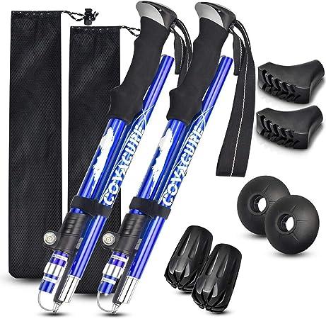 "2×Climbing crutches Expandable 26/"" Multifunctional Trekking Pole Telescopic"