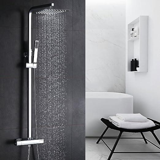 Homelody Cobre 38℃ Columna de ducha Termostatica sistema de ducha ...