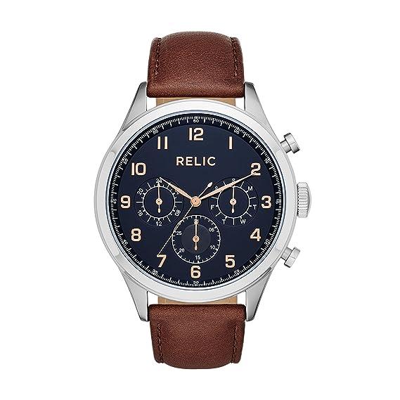 Reloj de hombre Relic Henry (ZR15884) de piel marrón.: Amazon.es: Relojes