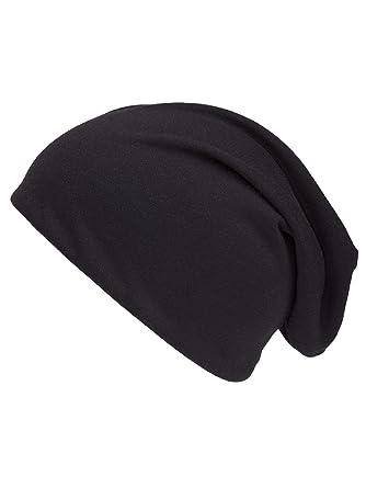 shenky - Bonnet d été de printemps en jersey - fin, long, tombant ... 2993dc7d337