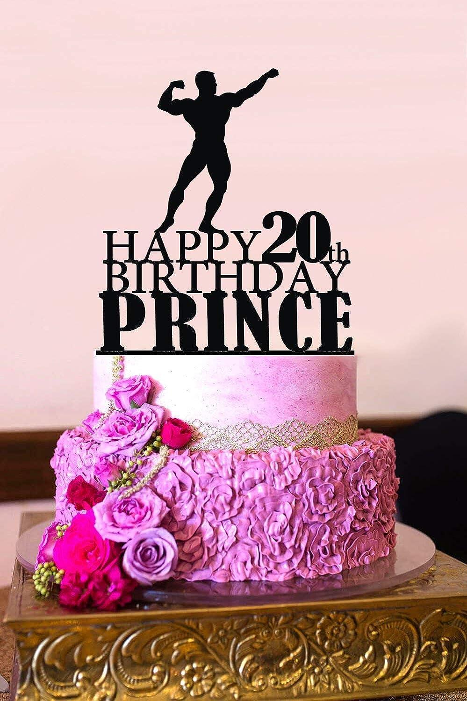 Peachy Amazon Com Susie85Electra Bodybuilder Cake Topper Muscleman Personalised Birthday Cards Xaembasilily Jamesorg