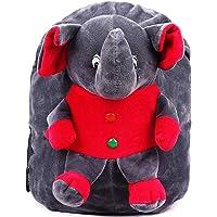 DZert Soft Plush Kids' School Bag (Multi-Color, 2 to 6 Years)