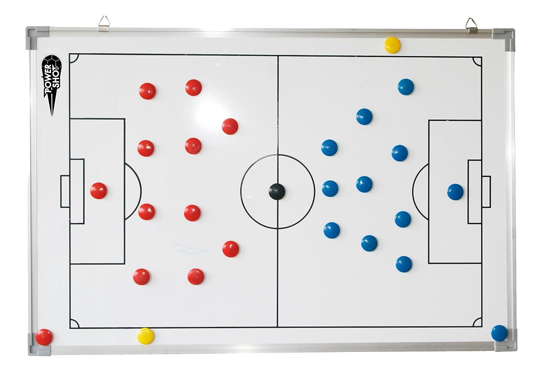 Netsportique Pizarra [SUPER] magnética PARA la ESTRATEGIA del fútbol [SUPER] Pizarra ACCESORIOS INCLUIDOS (60 x 90 cm) 9298e1