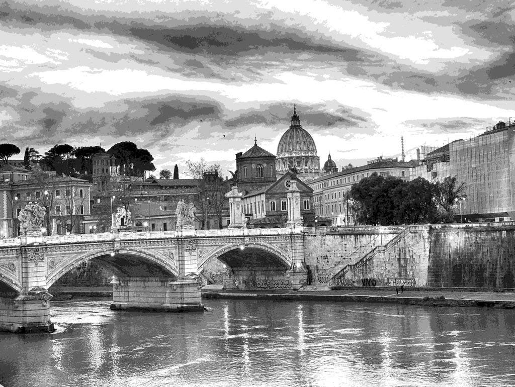 Lais Jigsaw Puzzle Rome black and white 2000 Pieces