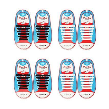 99dc9fb7b219 HieerBus No Tie Shoelaces for Kids and Adults - Shoe Laces for Sneakers