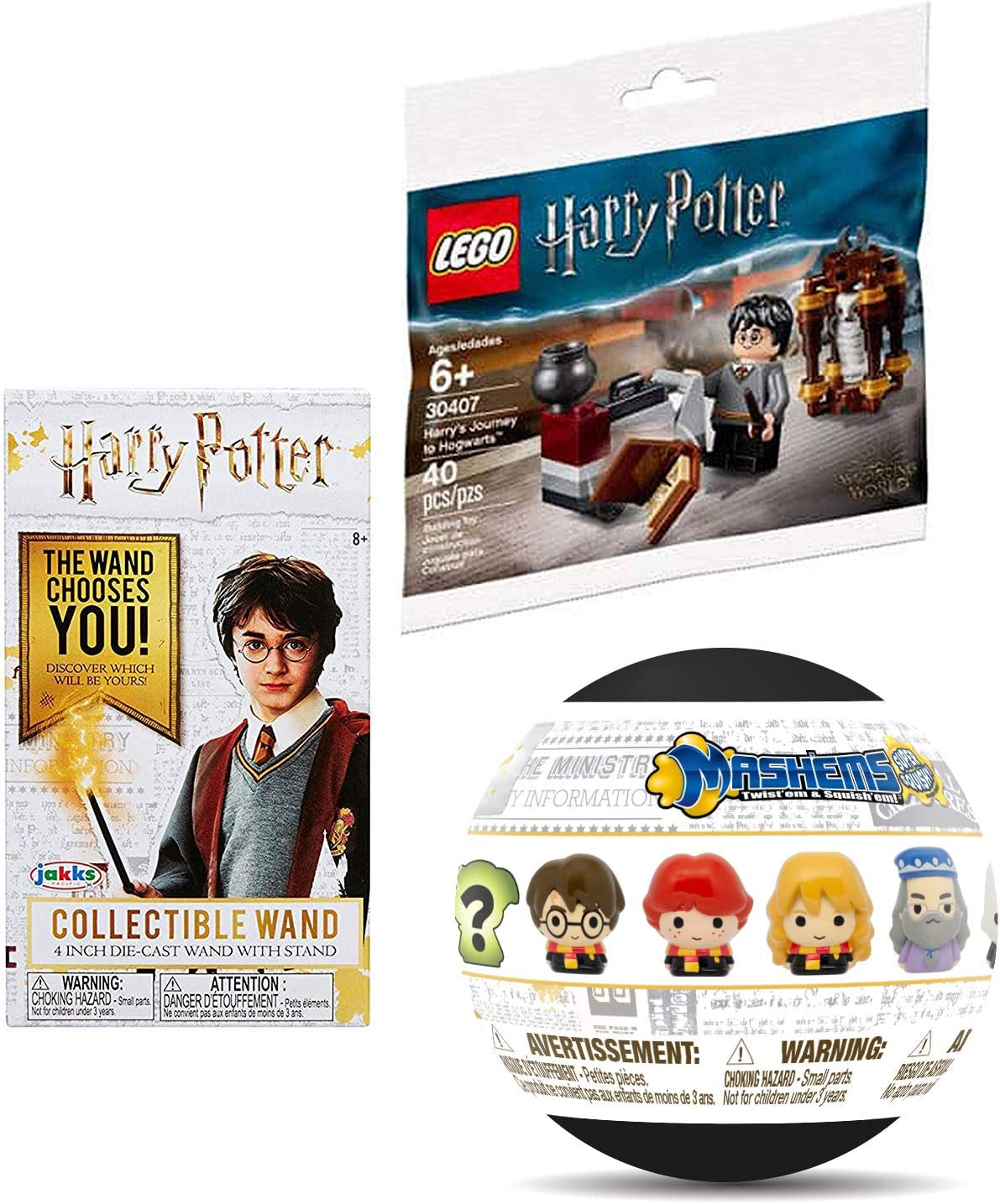 LEGO Mini HP Figure Micro Harry Potter Set Character Journey to Hogwarts Bundled with Wizard Collectibles Die-Cast Wizard Wand & Blind Capsule Soft Figure 3 Items