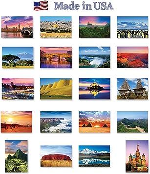 10 dise/ños con 2 tarjetas Juego de 20 postales con tipograf/ía Set 1