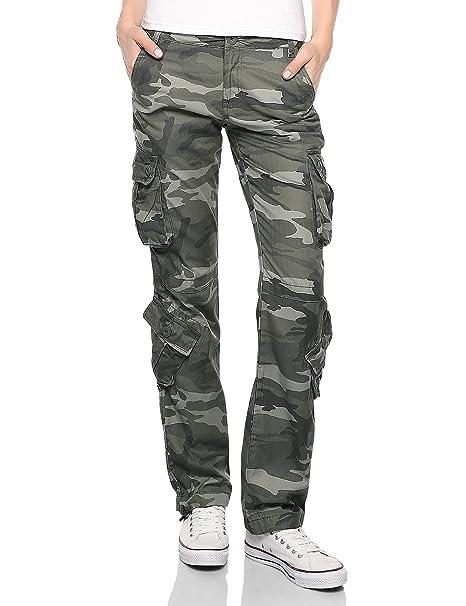 Match Women's Classic Straight Leg Multi Pocket Cargo Pants at ...
