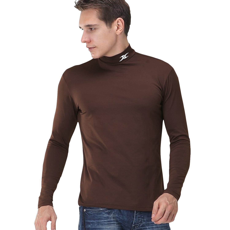Mock Turtleneck Men Thermal Compression Long Shirts Base Layer Napping NMM Henri maurice