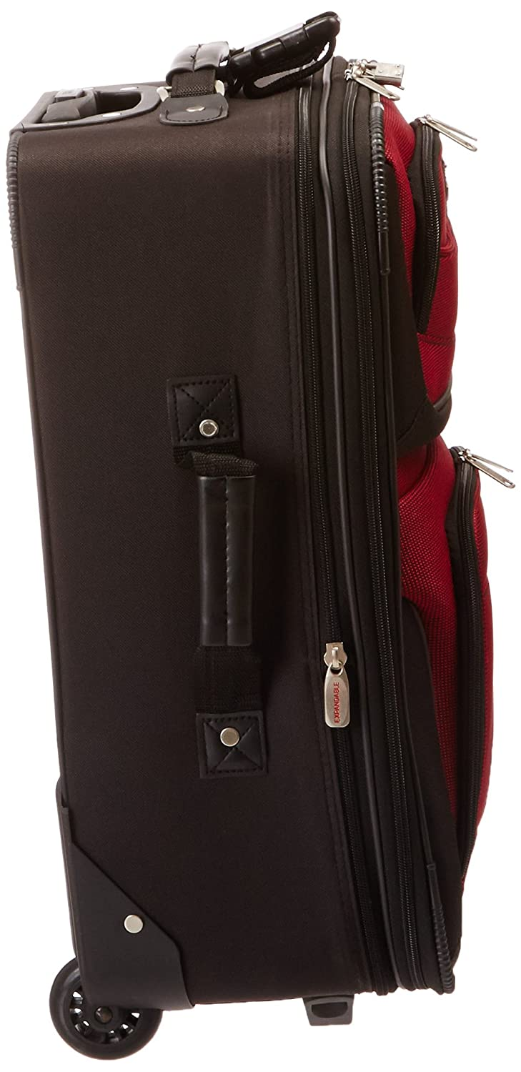 Travelers Choice Travel Select Amsterdam Two Piece Carry-on Luggage Set Red