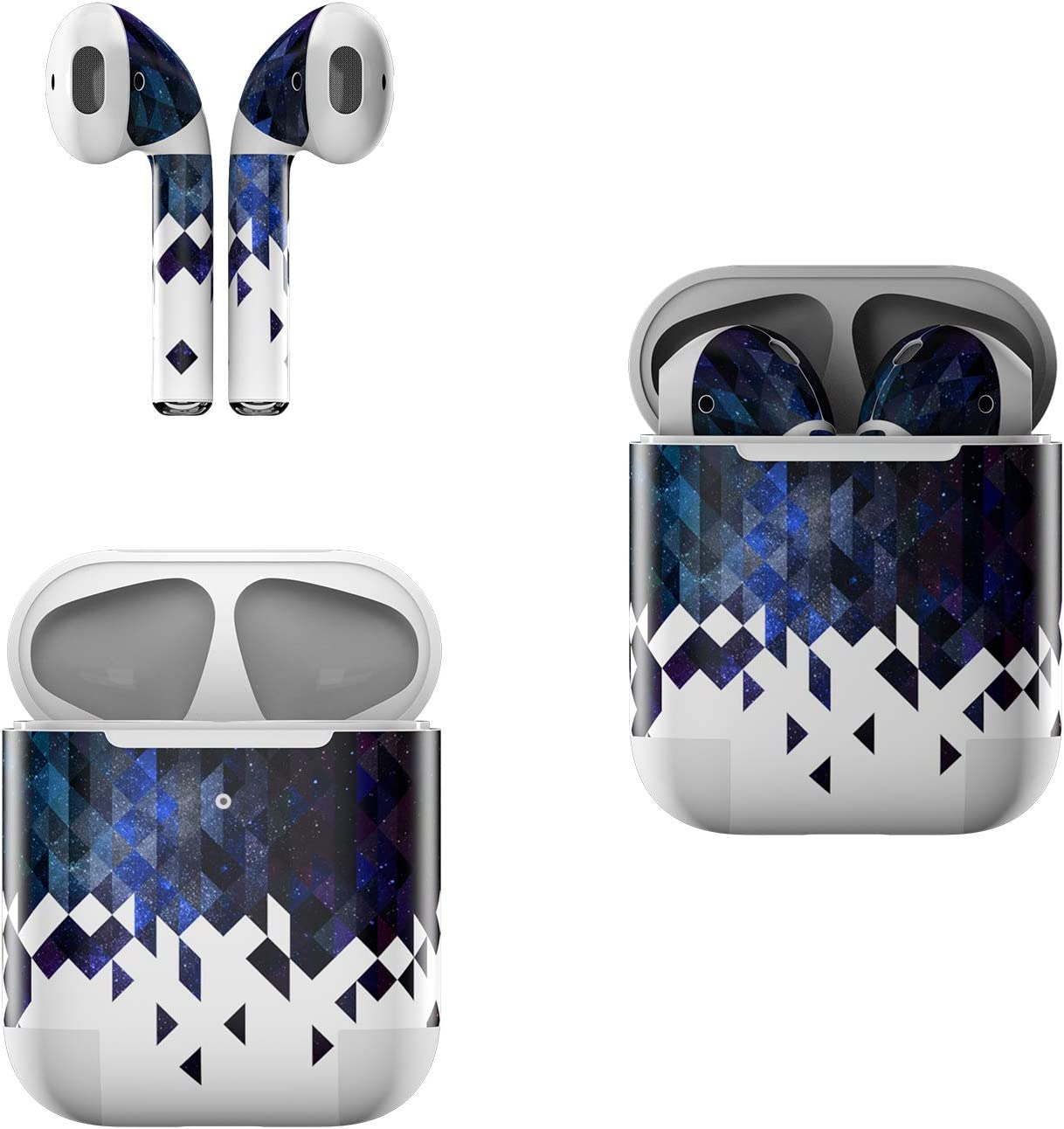 Skin Decals for Apple AirPods - Collapse - Sticker Wrap Fits 1st and 2nd Generation