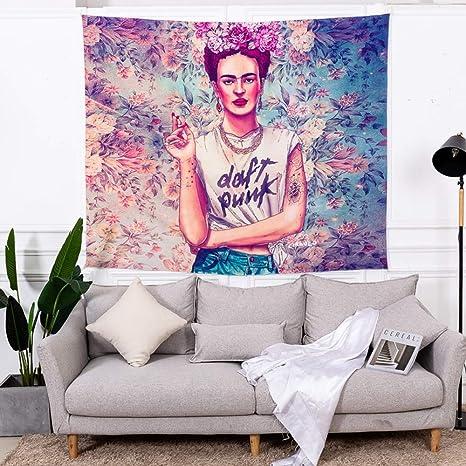 Tecnolygy Tapices para Frida Kahlo, Mandala Tapiz Manta de Playa Decoración de Habitación Dormitorio De Sala 2 Tamaños,Vistoso,78.7in*59in