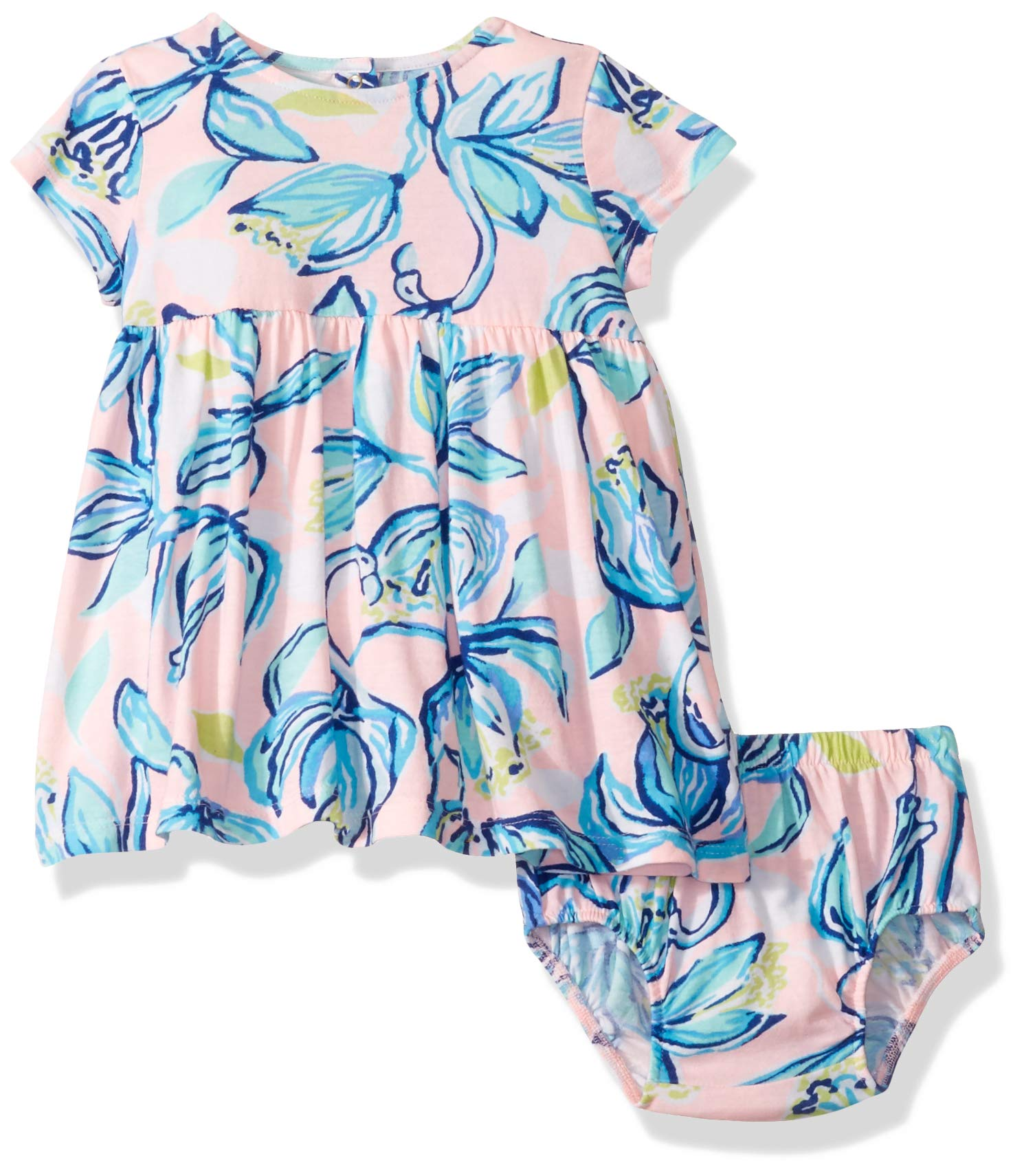 Lilly Pulitzer Baby Girls Abigail Infant Dress, Sweet Pea Pink Chasing The Sun, 1824