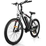 Rinkmo Electric Bike Adults Electric Mountain Bike 26in Power Assist Commuter Bicycle,20mph Ebike with Removable 10ah…