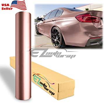 *Premium Bronze Satin Chrome Matte Metallic Car Vinyl Wrap Sticker Air Release
