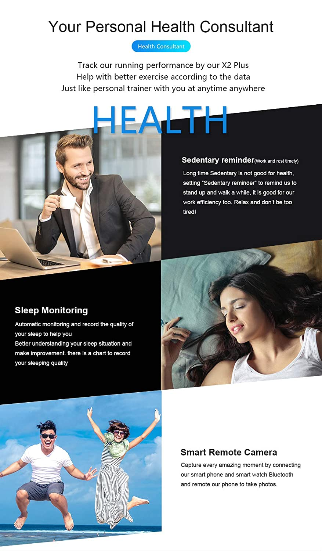 ZHANGZ0 Reloj Inteligente Fitness Pulsera Bluetooth IP68 Modo ...