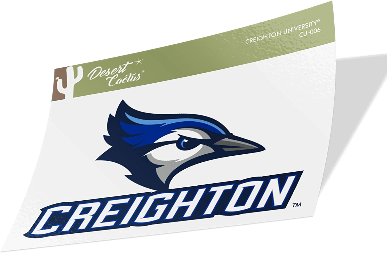 Creighton University CU Bluejays NCAA Vinyl Decal Laptop Water Bottle Car Scrapbook (Sticker - 006)
