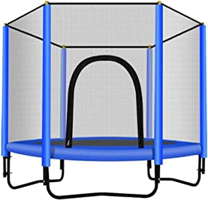 DYYD Children's Paradise Large Trampoline with Enclosure - Indoor Garden Kids Sport Fitness Jumping Mat, Support 225kg, 150cm/5 Foot