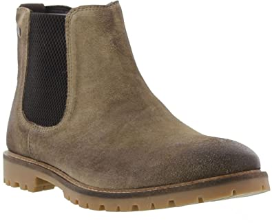 dc8600ccd9f062 Base London Men Taupe Suede  Turret  Chelsea Boots  Amazon.co.uk  Shoes    Bags
