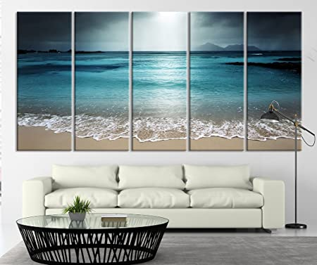 Ocean Beach Canvas Painting Picture Home Wall Decoration Living Room Ornament