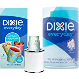 Dixie Cup Dispenser Everyday 5 oz. Cups Kids' Drink, Snacks, Crafts - 1 Dispenser & 100 5 oz cups