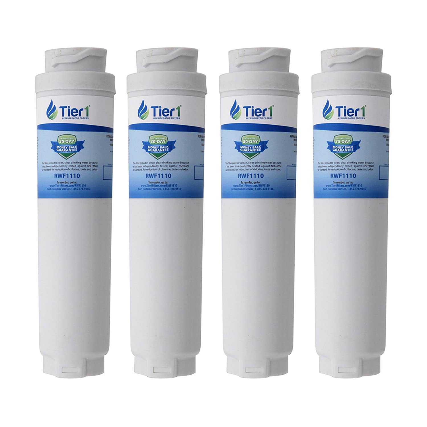 Tier1 Replacement for Bosch 644845 REPLFLTR10 UltraClarity, 644845, 9000194412, 740570, 9000077095, 9000193914 Refrigerator Water Filter 4 Pack