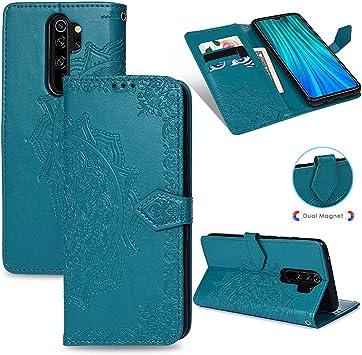 MUSESHOP para Xiaomi Redmi Note 8 Pro Funda Libro, Estuche de Cuero Estampado Mandala Libro de Cuero con Tapa y Cartera, Carcasa PU Leather con TPU Silicona Case Interna Suave: Amazon.es: Electrónica
