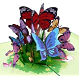 Paper Love Butterflies Pop Up Card, 3D Popup Greeting Cards, for Mothers Day, Spring, Fathers Day, Graduation, Birthday…