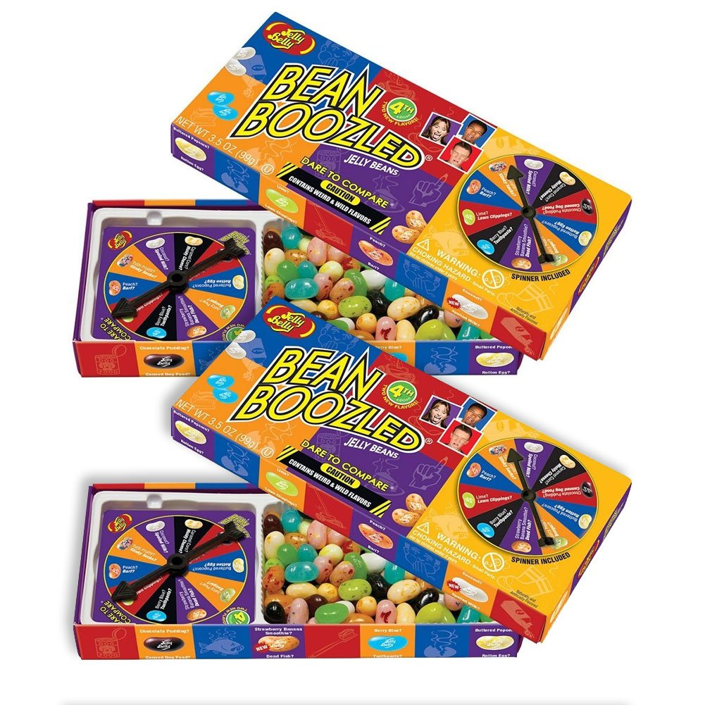 Jelly Belly 5th Edition Beanboozled Jelly Beans Spinner Box, 3.5 Ounce (Pack of 2)