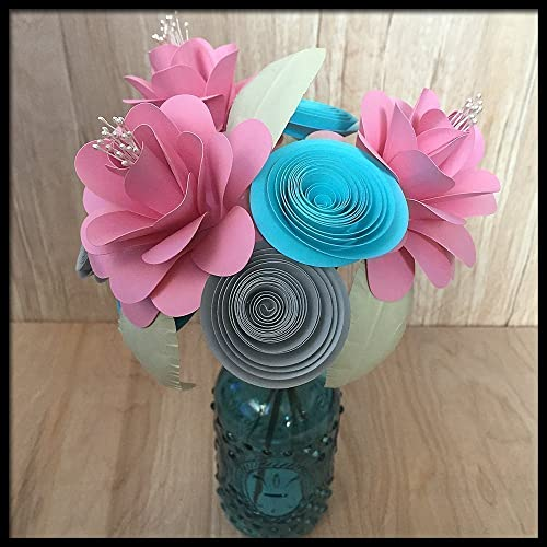 & Amazon.com: First 1st Anniversary Paper Flower Bouquet in Vase: Handmade