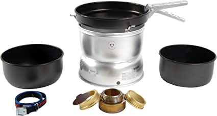 Trangia 25-5 UL Ultralight - Hornillo de aluminio con utensilios de cocina