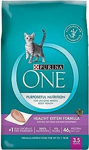 Purina ONE Healthy Kitten Formula Premium Cat Food 3.5 lb. Bag SmartBlend/Purposeful Nutrition