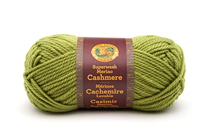 5e9bf6fde0e Image Unavailable. Image not available for. Color  Lion Brand Yarn 821-172E Superwash  Merino Cashmere ...