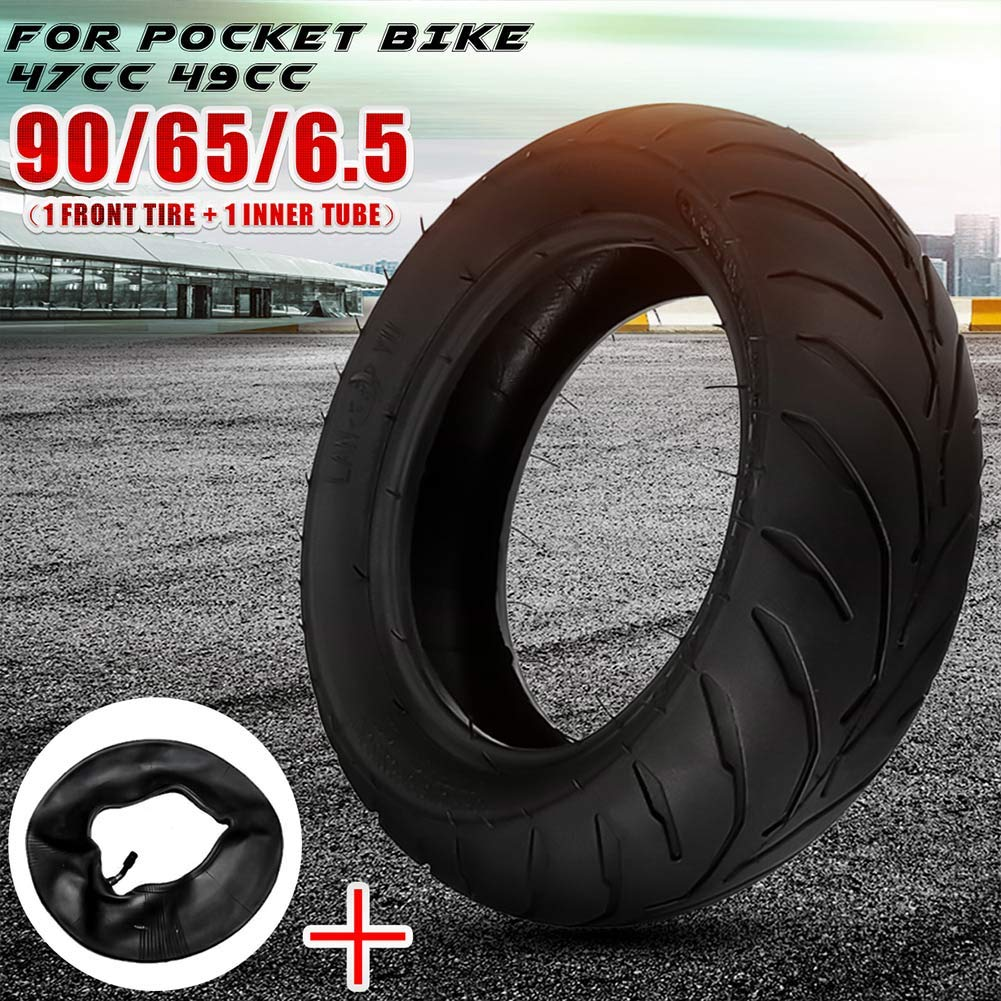6.5 Pneus Remplacement dune Roue pour 47Cc 49Cc Mini Pocket Bike MAyouth Tire Avant Arri/ère Tube Interne 90//65 6.5 110//50