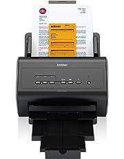 Brother ADS2400N Scanner Desktop  con Rete Cablata, 30 ppm, ADF da 50 Fogli, Dual CIS per Scansione Fronte/Retro Automatica