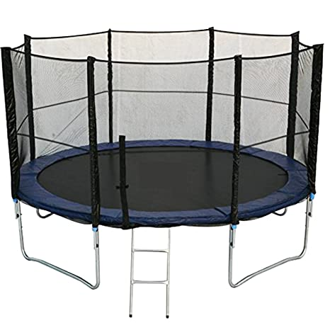 XXL Juego completo cama elástica 396 cm, incluye lona, escalera y ...