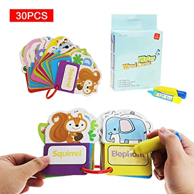 Coolplay Water Drawing Cards with Magic Pens Travel Activities Toys for Kids Coloring Set Children Animal: Toys & Games