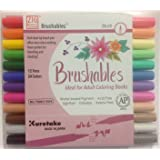 Kuretake Zig 12 Pack Brushables Dual Tip Brush Pens