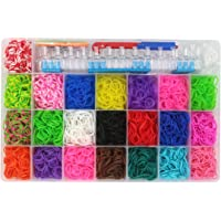 Assemble Colorful Rubber Band Refill Kit for Loom Rainbow Bracelets Dress Making