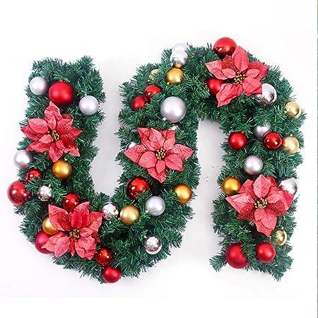 Corona de Navidad Las guirnaldas de Navidad for Escaleras chimeneas de 9 pies de Navidad Garland