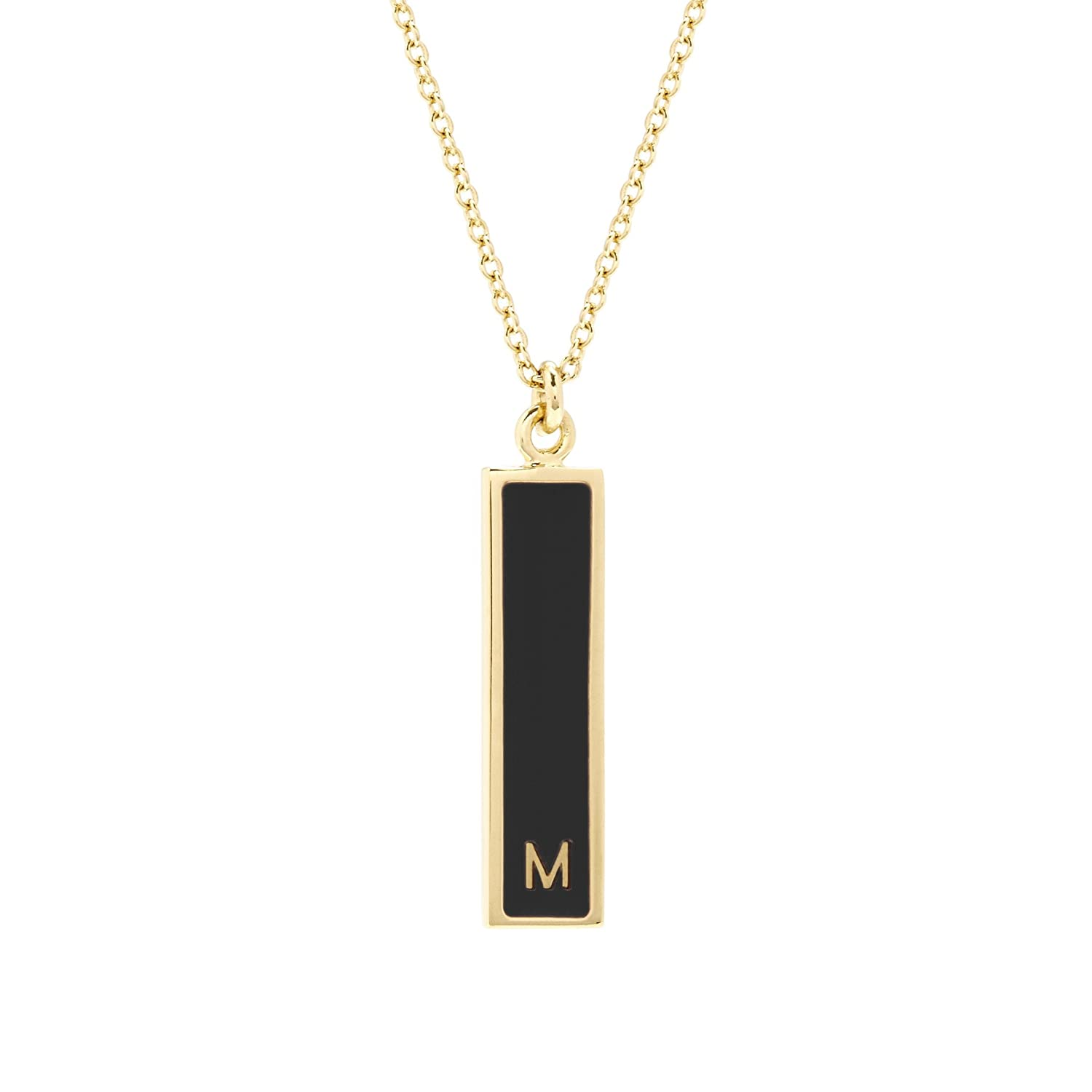 30 inch Chain with 2 inch Extender Brook /& York Custom Gold Plate Initial Vertical Bar Necklace