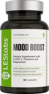LES Labs Mood Boost, Natural Supplement for Stress and Anxiety Relief, Positive Mood &